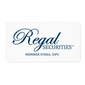 Regal Securities Logo Labels