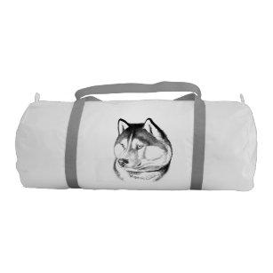 90ce7d950f Regal Siberian Husky Sled Dog Duffle Bag