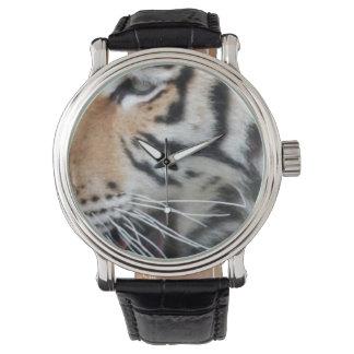 Regal Tiger Face Wildlife Photo Portrait Wrist Watches