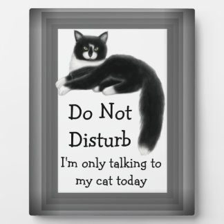 Regal Tuxedo Cat Customizable Sign Plaque
