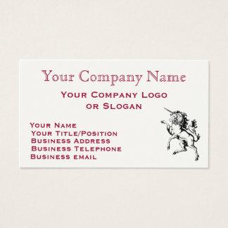 Regal Unicorn Business Card