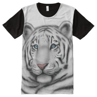 Regal White Bengal Tiger Allover Panel Shirt