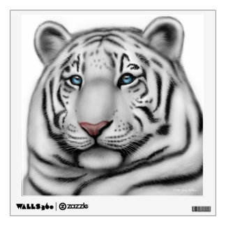 Regal White Bengal Tiger Wall Decal