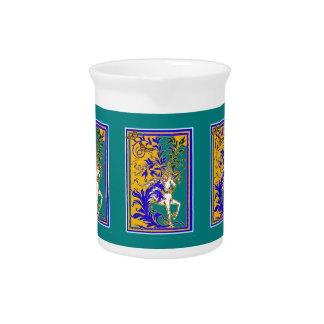 Regal White Unicorn Gifts by Sharles Beverage Pitchers