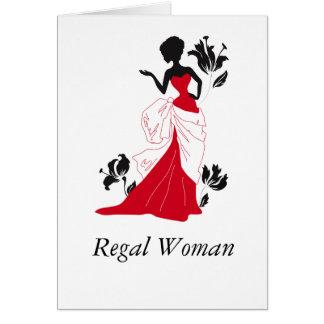 Regal Woman (Blank In-side) Card