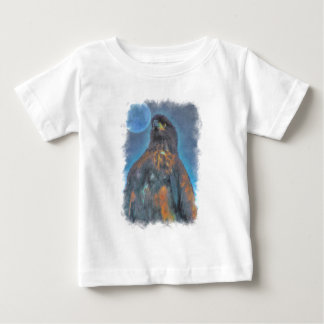 Regal Young Bald Eagle and Moon Painting Baby T-Shirt