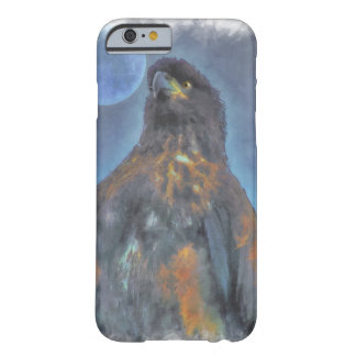Regal Young Bald Eagle and Moon Painting Barely There iPhone 6 Case