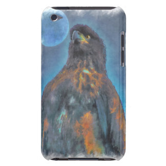 Regal Young Bald Eagle and Moon Painting Barely There iPod Case