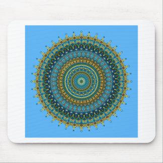 Regalia Aqua Blues Kaleidoscope No. 5 Mousepads