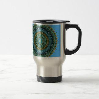 Regalia Aqua Blues Kaleidoscope No. 5 Travel Mug