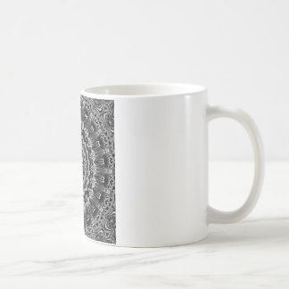 Regalia Black and White Kaleidoscope Coffee Mug