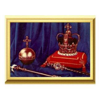 Regalía de la coronación de la reina Elizabeth II Tarjetas Postales