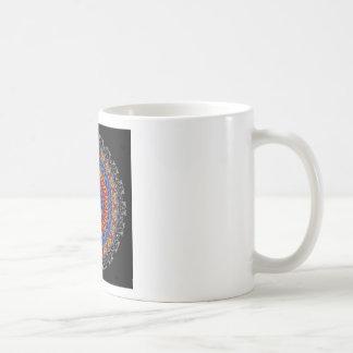 Regalia Red Orange and Blue Kaleidoscope Coffee Mug