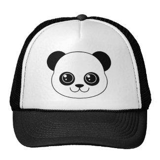 Regaliz lindo del negro de la panda gorras