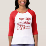 Regalo 1973 de cumpleaños del Brew del vintage T-shirts