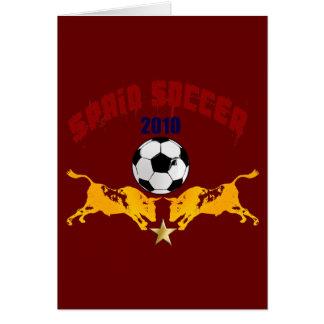 Regalo 2010 de Furia Bull Toro del La del fútbol d Felicitaciones