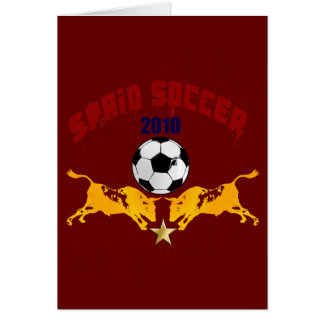 Regalo 2010 de Furia Bull Toro del La del fútbol d Tarjeta De Felicitación
