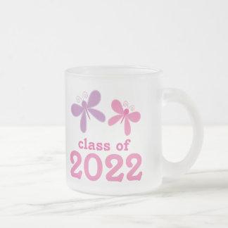 Regalo 2022 de la graduación de los chicas taza cristal mate
