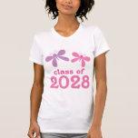 Regalo 2028 de la graduación de los chicas camiseta