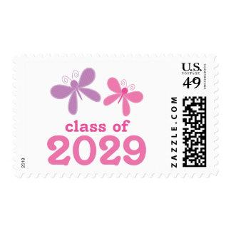 Regalo 2029 de la graduación de los chicas sellos postales