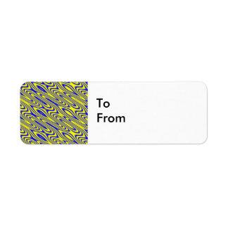 Regalo abstracto del personalizado del modelo de etiqueta de remitente
