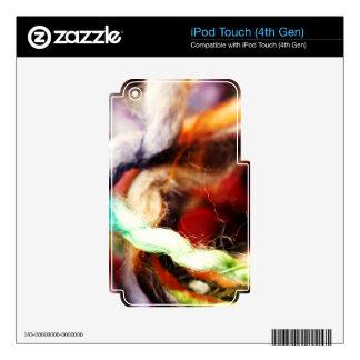 Regalo acogedor de la diversión lanosa skins para iPod touch 4G