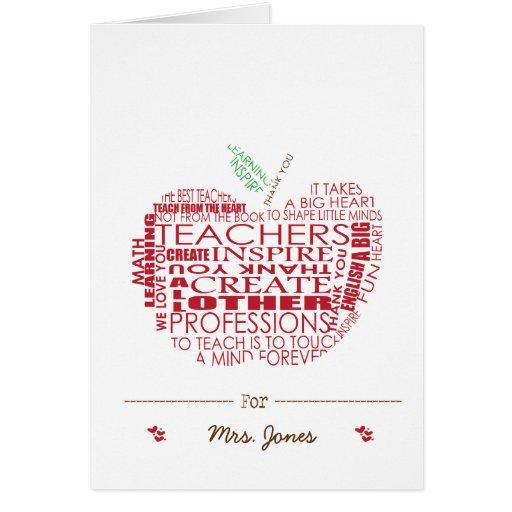 Regalo adorable para los profesores tarjeta de felicitación