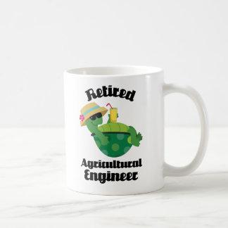 Regalo agrícola jubilado del ingeniero taza de café