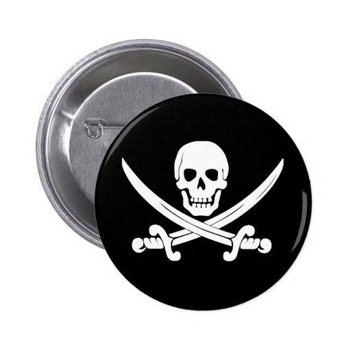 Regalo alegre del cráneo de bandera de pirata y de pin