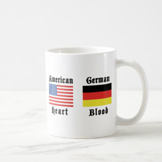 Regalo alemán de la sangre del corazón americano tazas de café