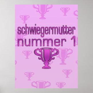Regalo alemán Schwiegermutter Nummer 1 de la suegr Posters