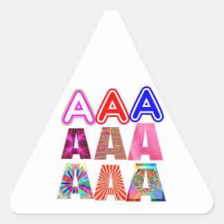 REGALO alguien un grado del Aaa: Reconozca el Pegatina Triangular