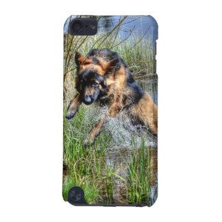 Regalo Alsatian del Perro-amante de la felpa 5 del Funda Para iPod Touch 5