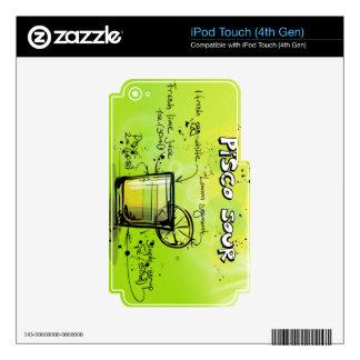 Regalo amargo del cóctel de la bebida de Pisco iPod Touch 4G Skin