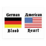 Regalo americano del corazón de la sangre alemana