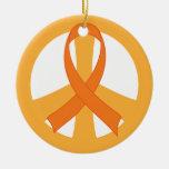 Regalo anaranjado del ornamento de la conciencia d ornamente de reyes
