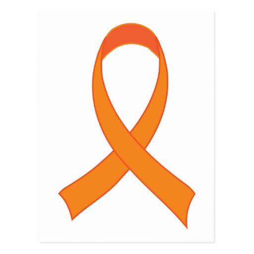 Regalo anaranjado personalizado de la conciencia d postal