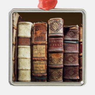 Regalo antiguo de los tomos del vintage de los adorno navideño cuadrado de metal