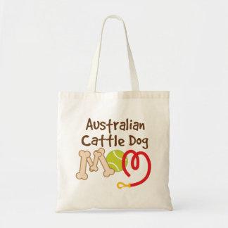 Regalo australiano de la mamá de la raza del perro bolsa tela barata