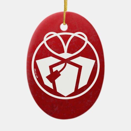 Regalo Avatar del navidad Adorno Navideño Ovalado De Cerámica