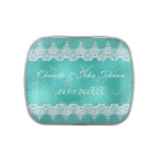 Regalo azul de la lata del caramelo de Belly™ de Jarrones De Caramelos