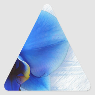 Regalo azul del destino de la paz del amor de la calcomanías trianguloes