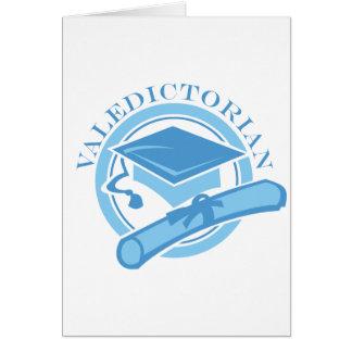 Regalo azul fresco de la graduación del Valedictor Tarjeta De Felicitación