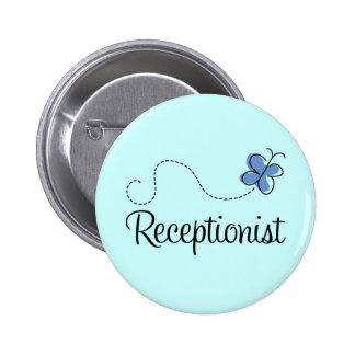 Regalo azul lindo del trabajo del recepcionista de pin