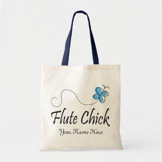 Regalo azul personalizado de la música del polluel bolsa lienzo