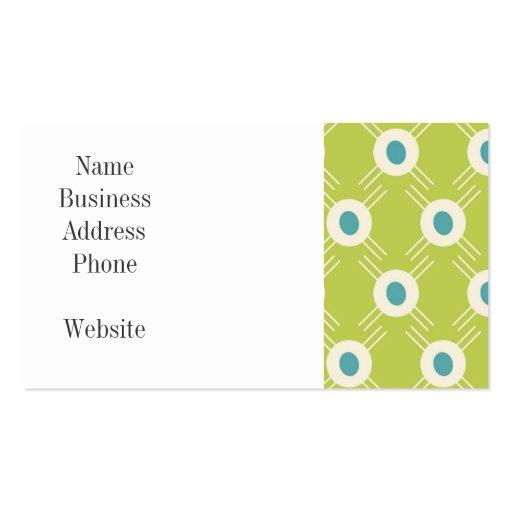 Regalo azulverde del día de madre de los círculos tarjetas de visita