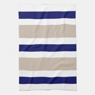 Regalo beige y blanco de los azules marinos de toalla de mano