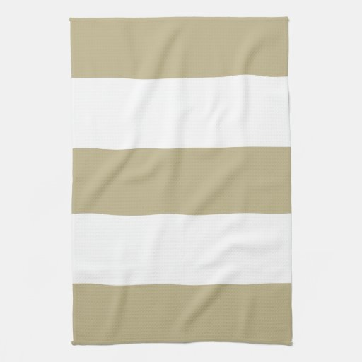 Regalo beige y blanco del nuevo moreno de la raya  toalla de cocina