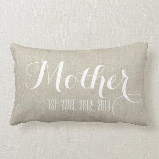 Regalo blanco beige del día de madre personalizada cojín