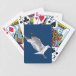 Regalo blanco de aterrizaje de Birdlover de la fau Baraja De Cartas